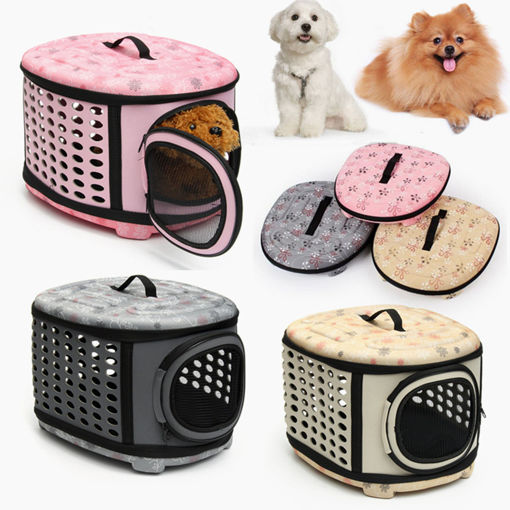 Immagine di Small Pet Dog Cat Puppy Kitten Carrier Portable Cage Crate Transporter Bag