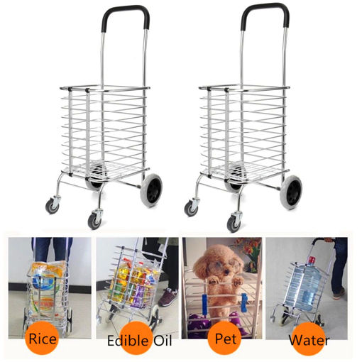 Immagine di Folding Portable Shopping Storage Baskets