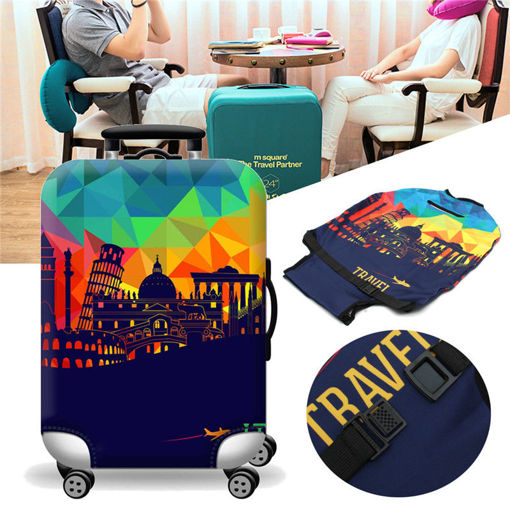 Immagine di Elastic Luggage Suitcase Cover 20/24/28/32 in Dustproof Protector Protective Bag